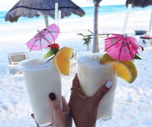 summer, beach, and drink image