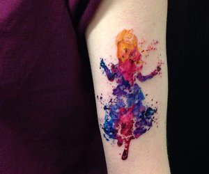 alice in wonderland, tattoo, and disney image