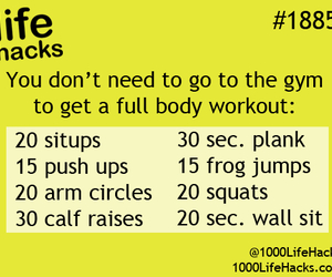 workout, fitness, and life hacks image