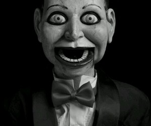 doll, black and white, and horror image