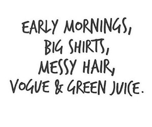 quote, vogue, and mornings image