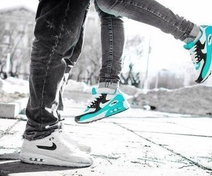 nike, couple, and love image