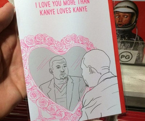 funny, kanye west, and love image