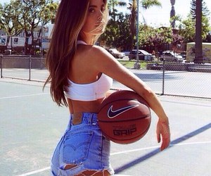 girl, Basketball, and summer image