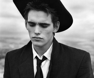 matt dillon, black and white, and hat image
