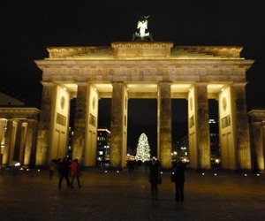 berlin, travel, and lights image