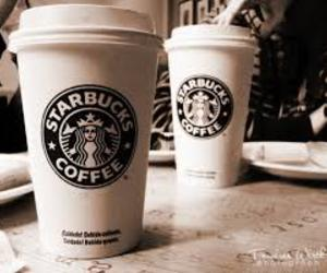 Hot, coffee, and starbucks image