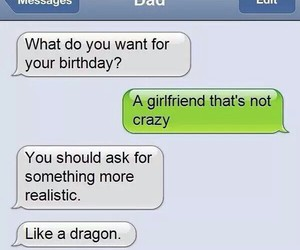 funny, girlfriend, and dad image