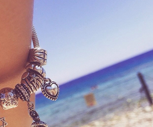 beach, bracelet, and charms image