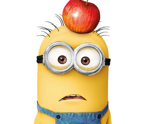 minions, apple, and yellow image