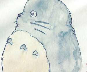 totoro, draw, and studio ghibli image