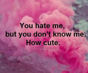 hate, cute, and pink image