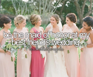 best friends, girls, and wedding image