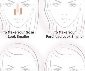 makeup, contour, and contouring image