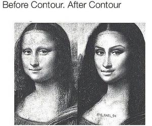 funny, makeup, and contour image