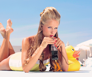 blond, coca cola, and duck image