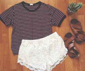 clothes, lace, and shorts image