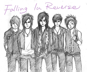 band, drawing, and falling in reverse image