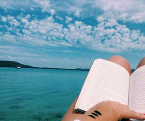 Dream, ocean, and reading image