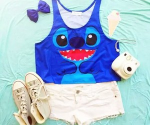fashion, outfit, and stitch image