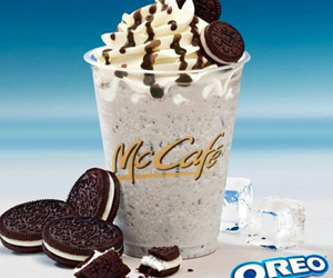 chocolate, drink, and McDonalds image
