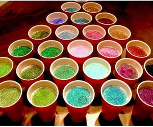 glitter, drink, and party image