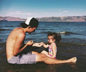 beach, daughter, and cute image