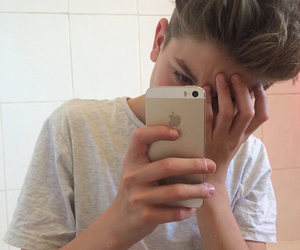 boy, pale, and iphone image