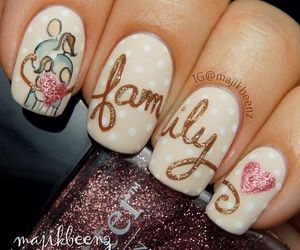 nails, family, and heart image