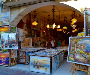 color, painting, and Greece image