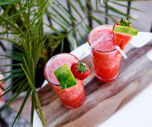 drink, summer, and watermelon image