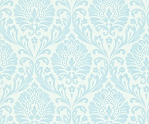 floral, light blue, and patterns image
