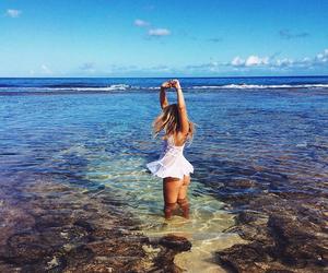 beach, blonde, and Dream image