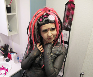cyber, pink hair, and dreads image