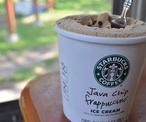 starbucks, ice cream, and coffee image
