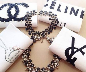 chanel, fashion, and necklaces image
