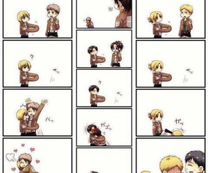 anime, attack on titan, and hug image
