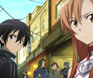 anime, asuna, and kirigaya kazuto image