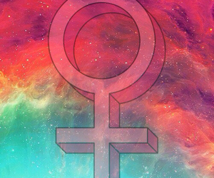 feminism, feminist, and galaxy image
