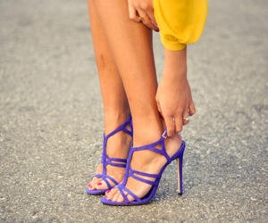 shoes, purple, and yellow image