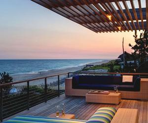 ocean, beach, and house image