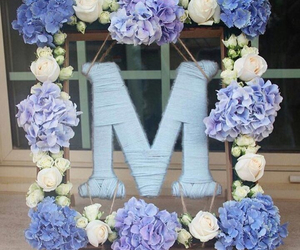 flowers, letters, and M image