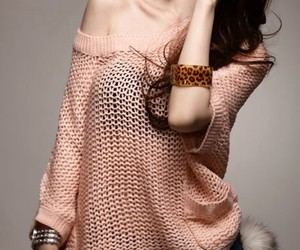 pink, sexy, and sexy sweater image