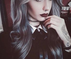 makeup, dark, and hair image