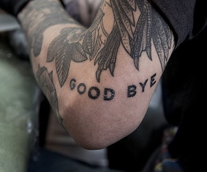 tattoo, boy, and goodbye image