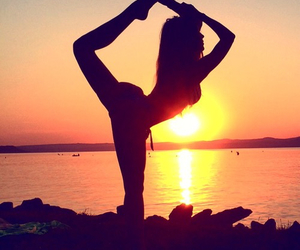 flexible and sunset image