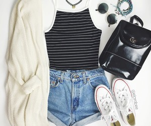 accessories, choker, and converse image