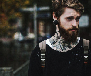 tattoo, boy, and beard image