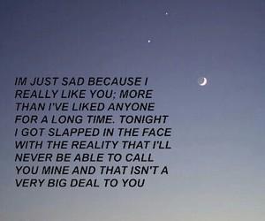 sad, love, and reality image