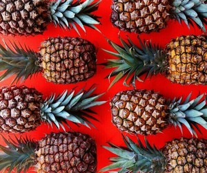 pineapple, fruit, and red image